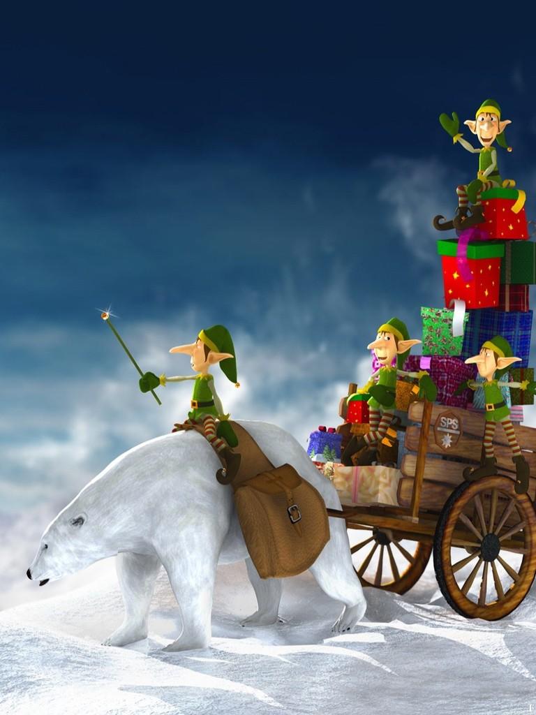 christmas dwarfs - wallpaper