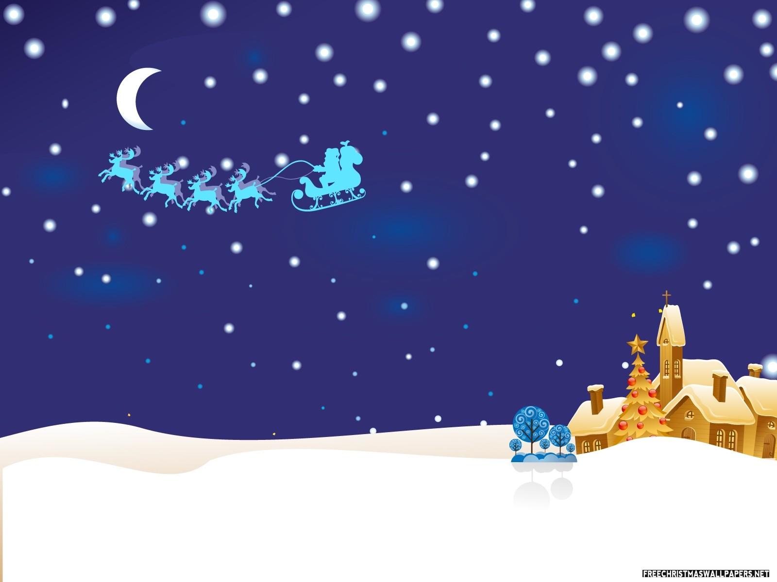 Christmas Night Idyll Wallpaper
