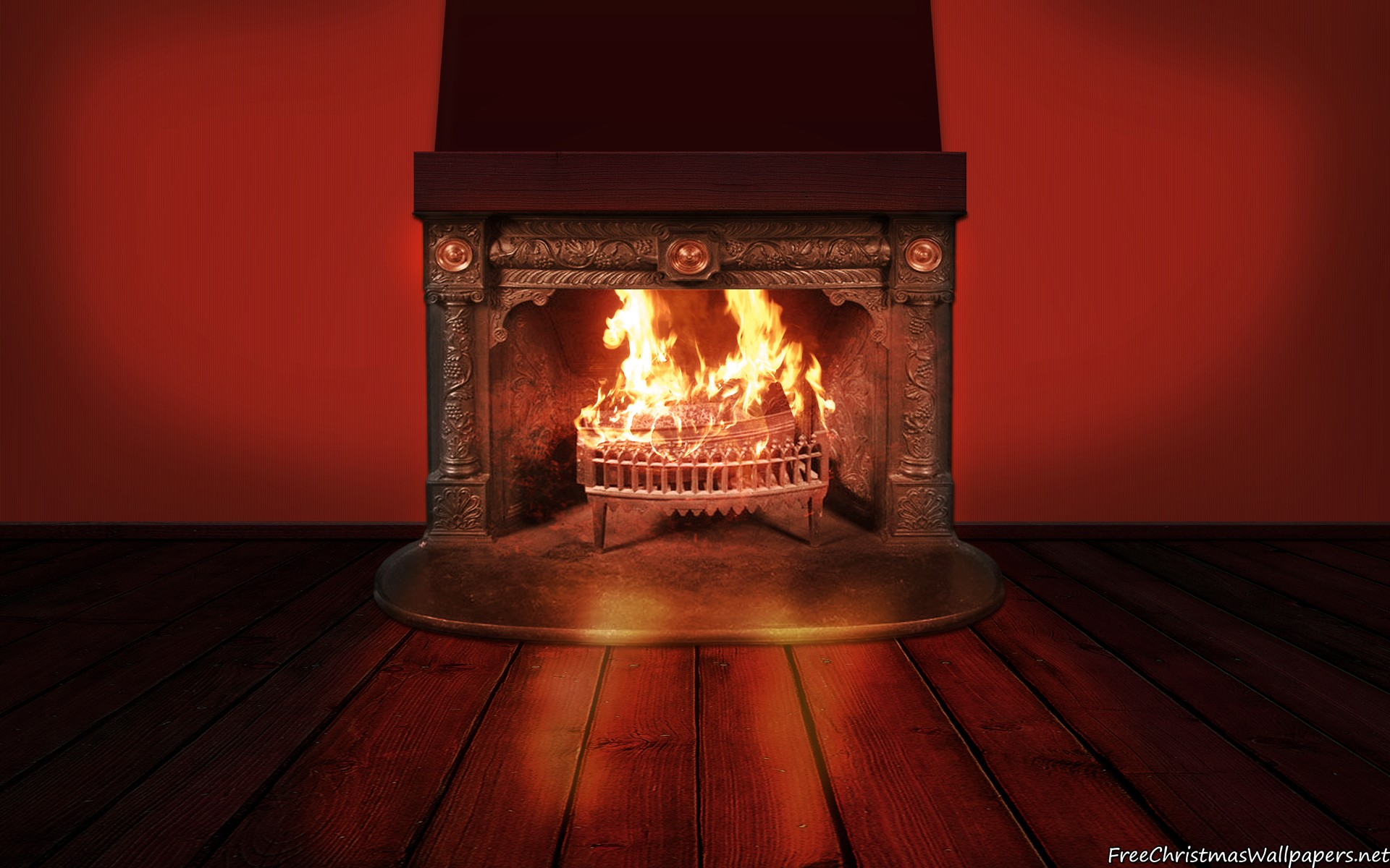 Fireplace Background Wallpaper Freechristmaswallpapers Net