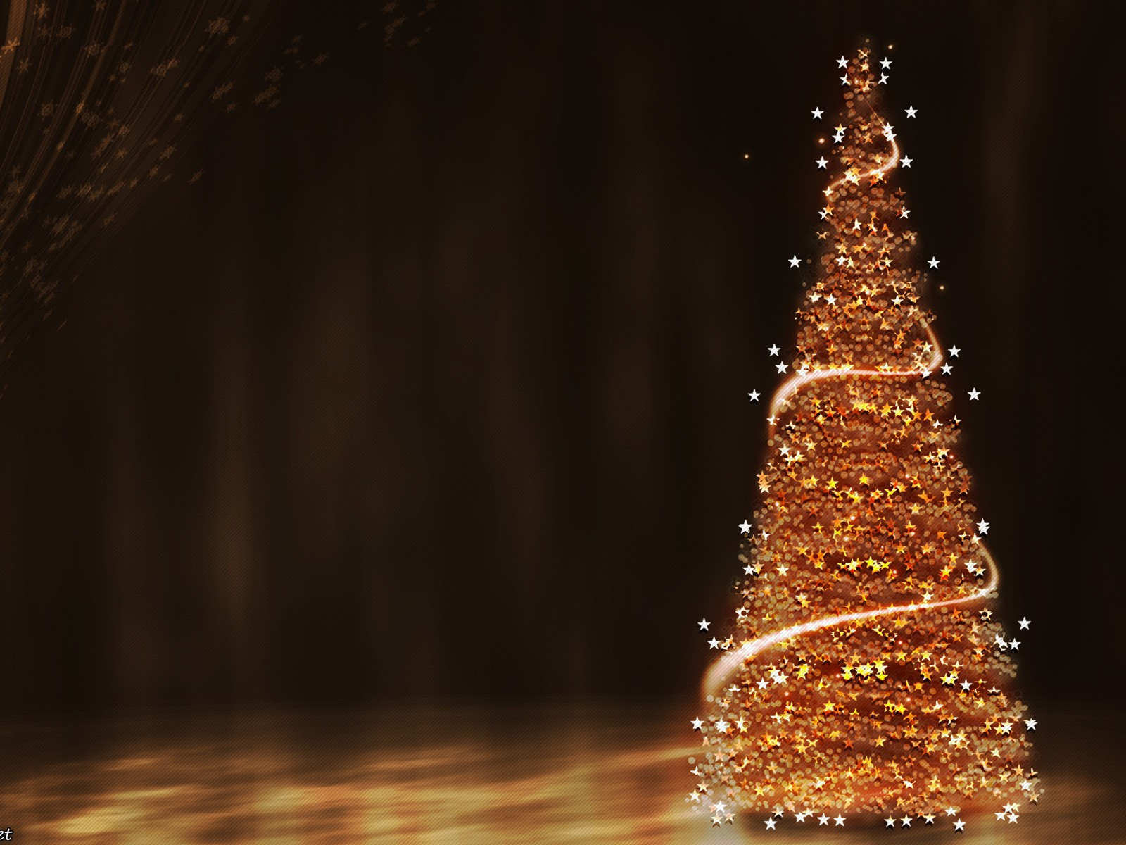 gold christmas tree wallpaper - photo #4
