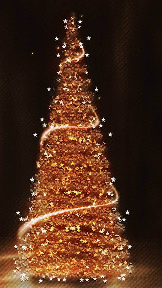 gold christmas tree wallpaper - photo #5