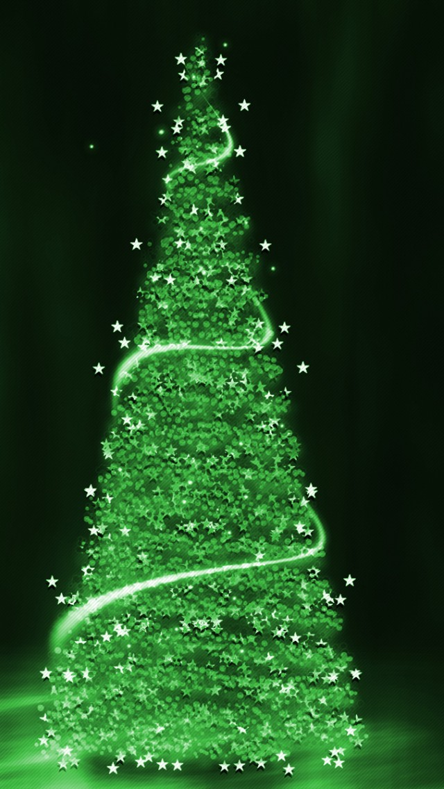 Green Christmas Tree Background - Wallpaper ... Christmas Ornaments Iphone Wallpaper