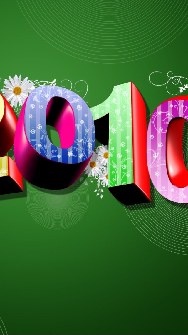 happy new year 3d iphone 55s amp ipod wallpaper