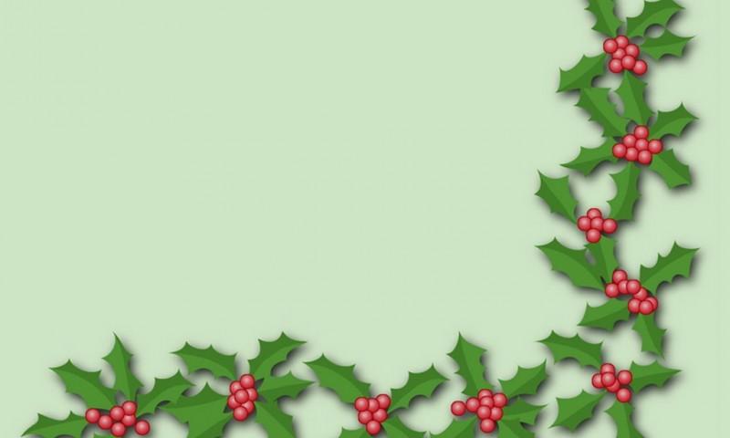 Holly Trim Wallpaper Freechristmaswallpapers Net