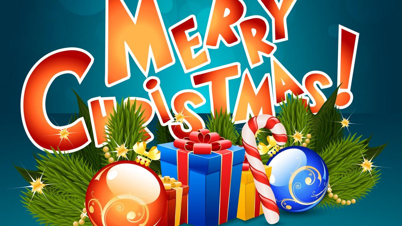 Merry Christmas Hd Presents Wallpaper