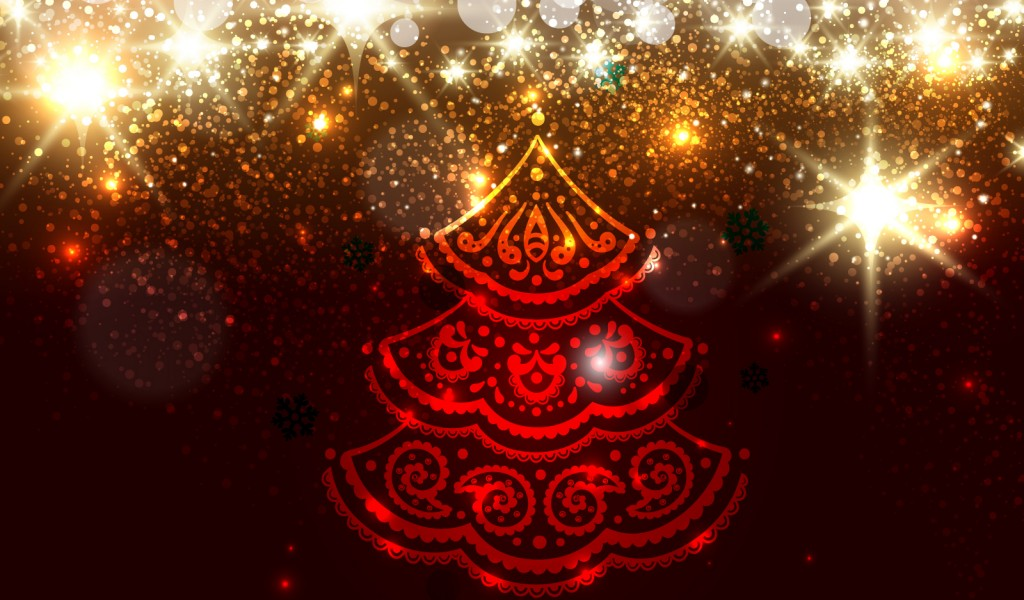 red christmas tree background - photo #29