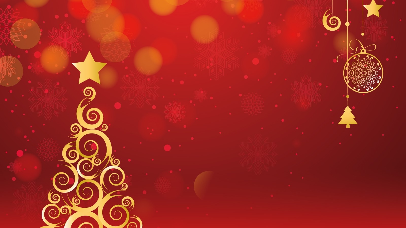 Xmas tree decorations 1600x900 wallpaper for Background decoration images