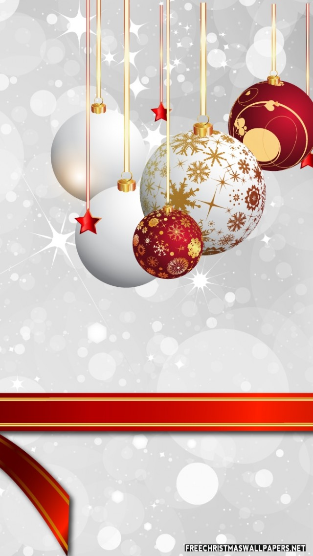 Christmas iphone 5 wallpaper ornaments