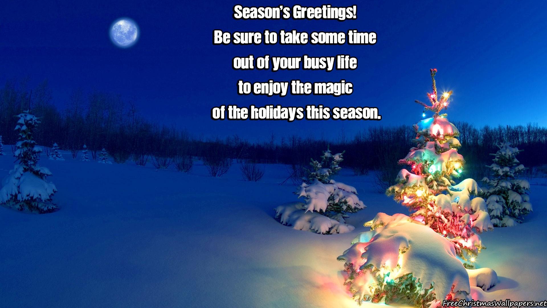 Christmas Seasons Greetings 1920x1080 1080p Wallpaper