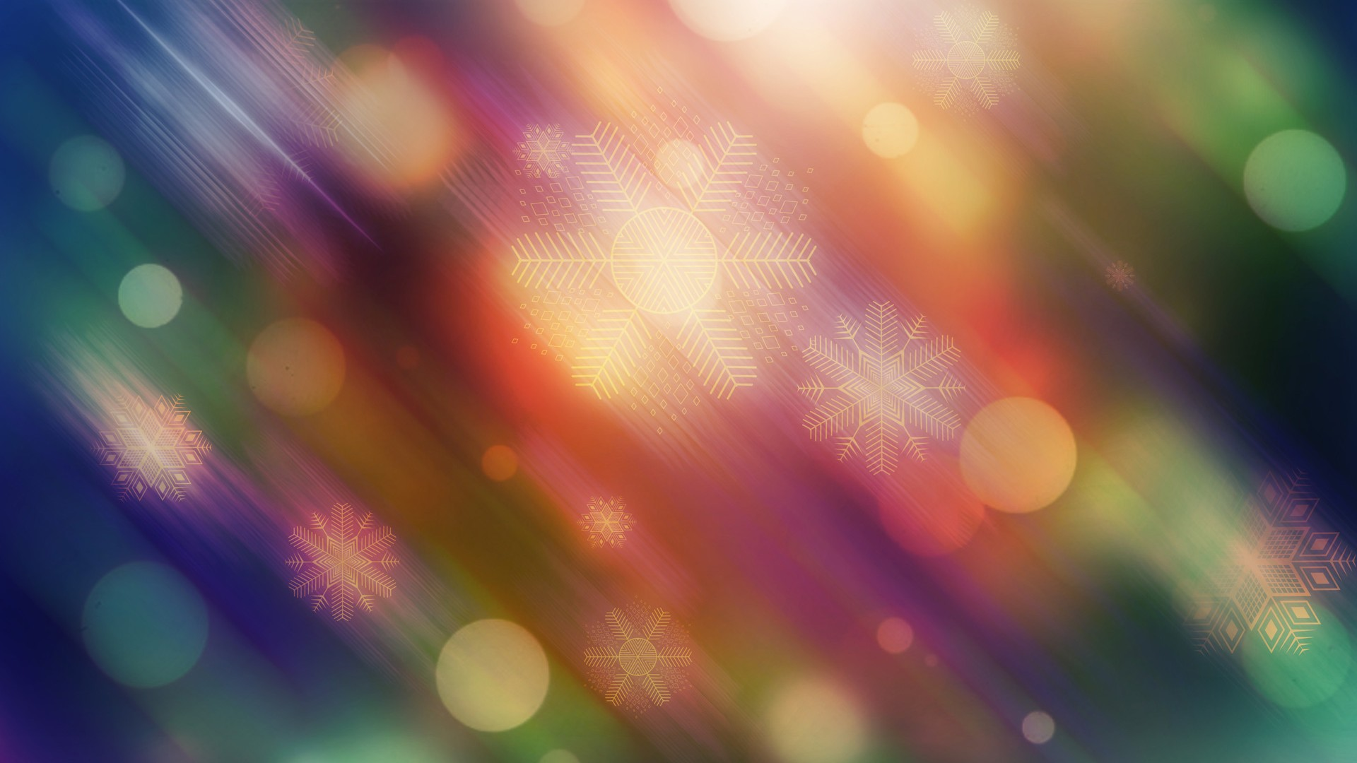 christmas winter hd lights 1920x1080 1080p wallpaper