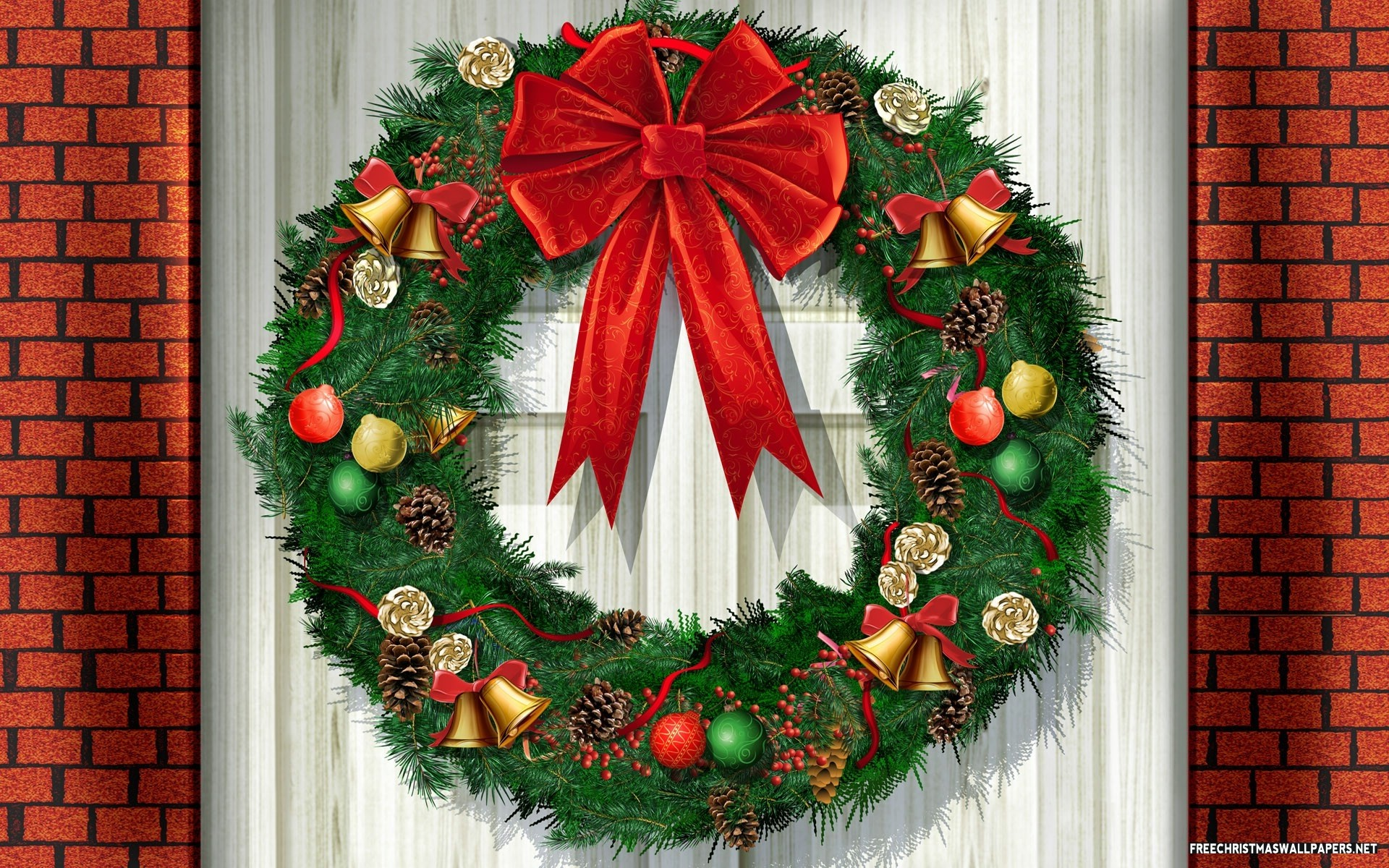 Christmas Wreath Painting