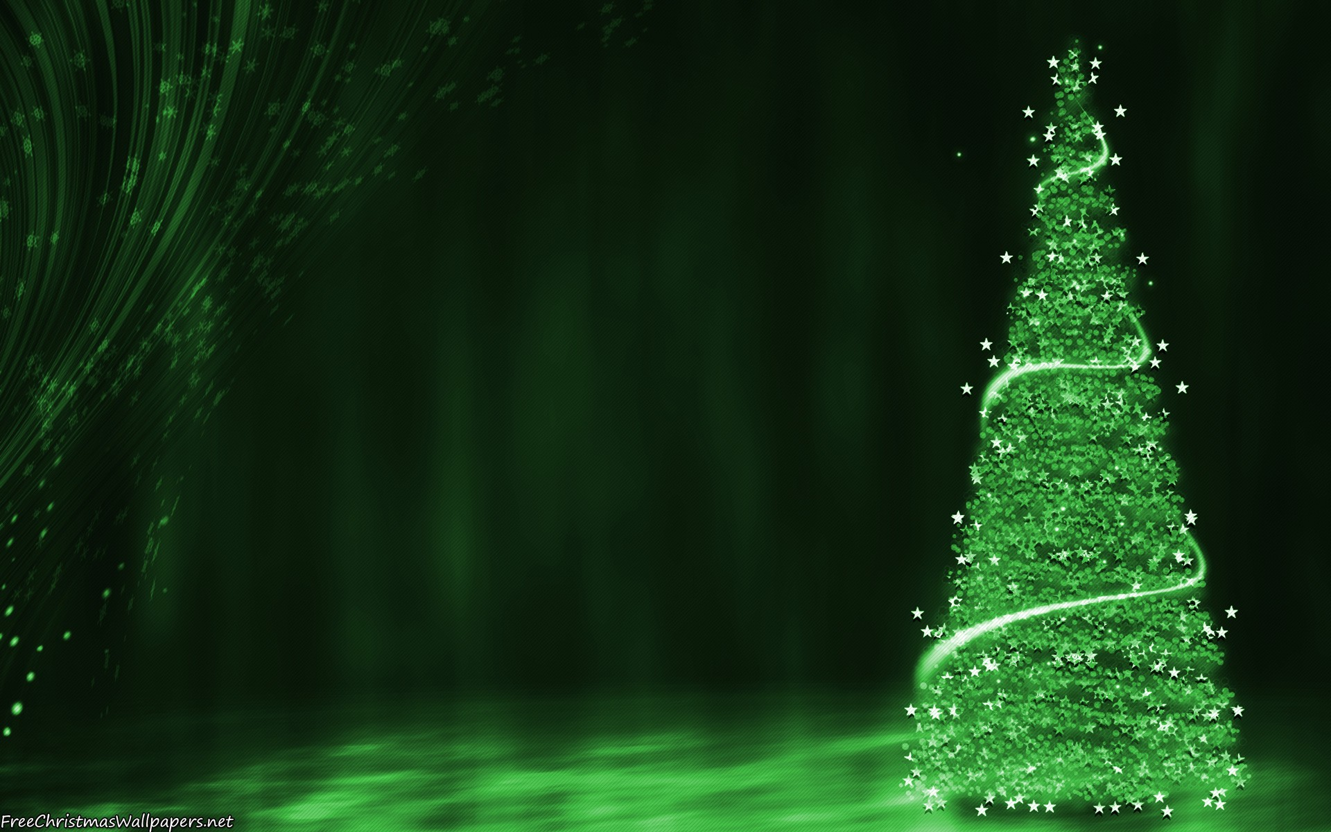 green christmas tree background - wallpaper