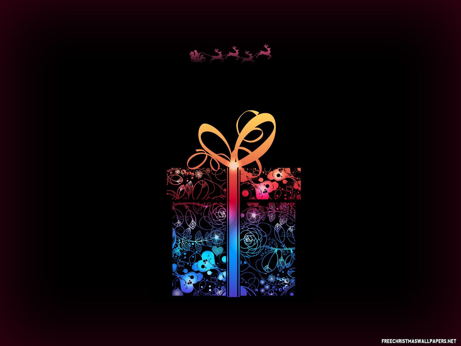 Merry christmas gift wallpaper freec pc pc negle Choice Image