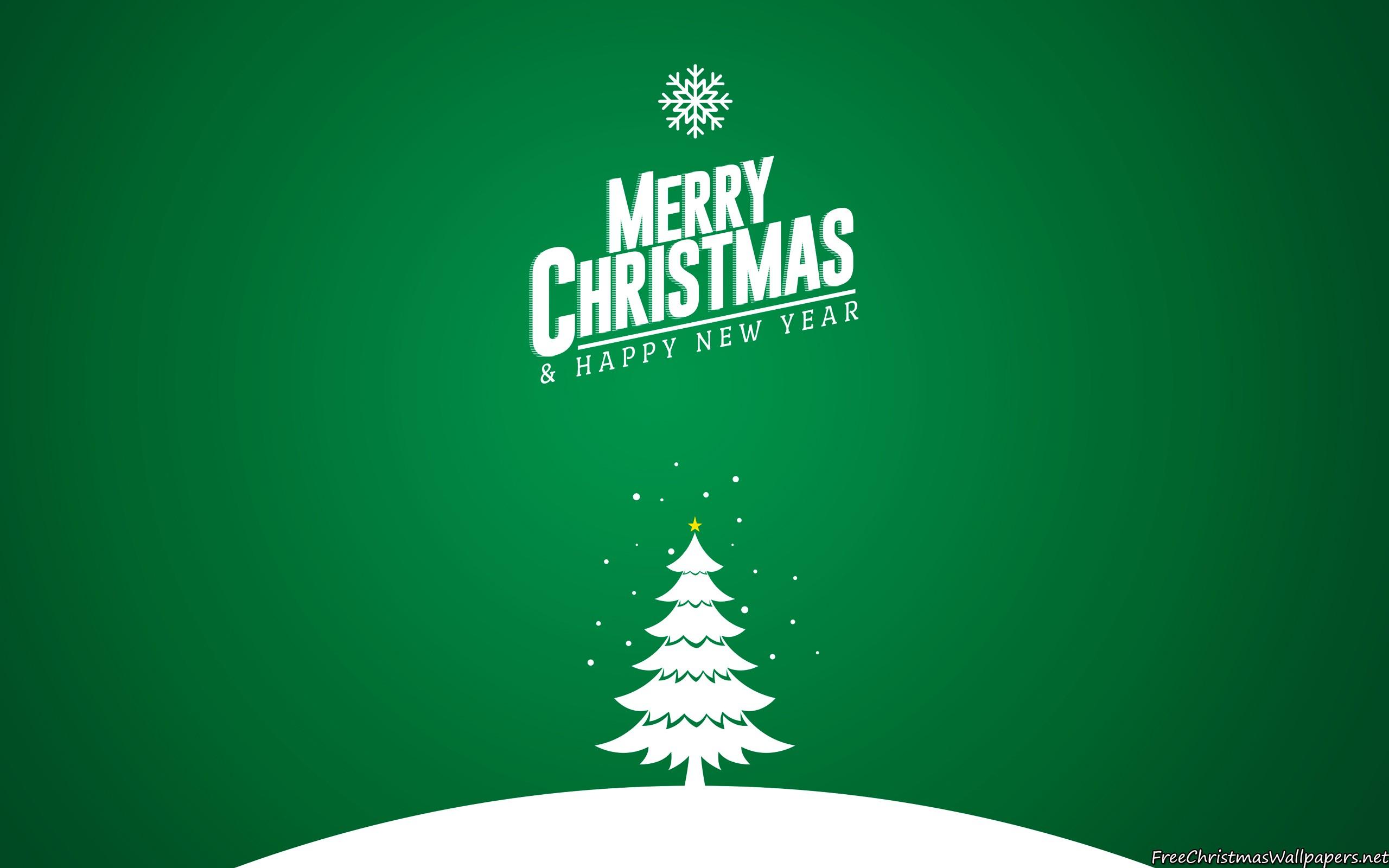 Merry Christmas Tree Card 1 2560x1600 Wallpaper