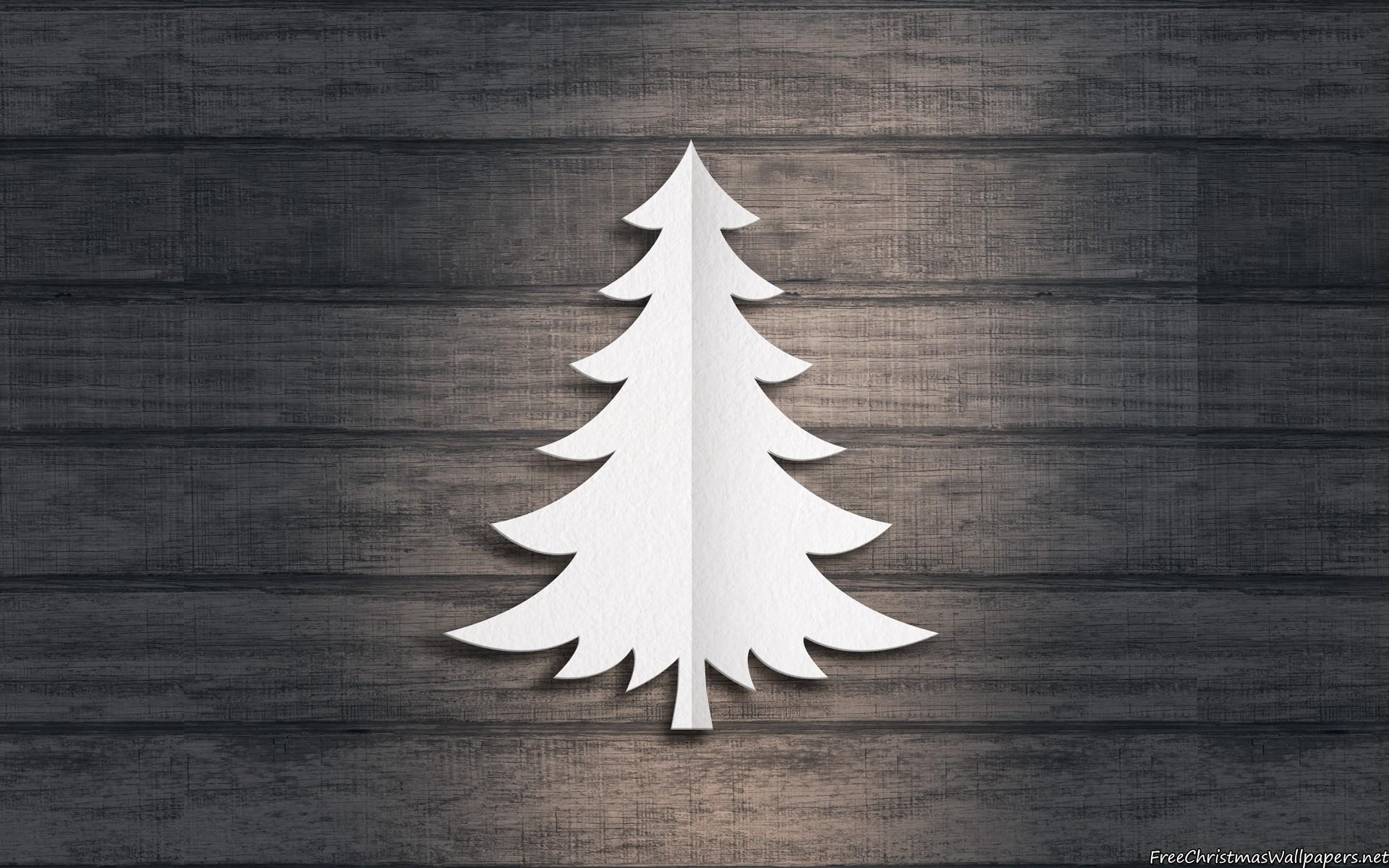 Download Paper Christmas Tree Wallpaper