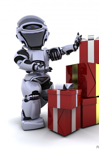 Robot With Christmas Presents
