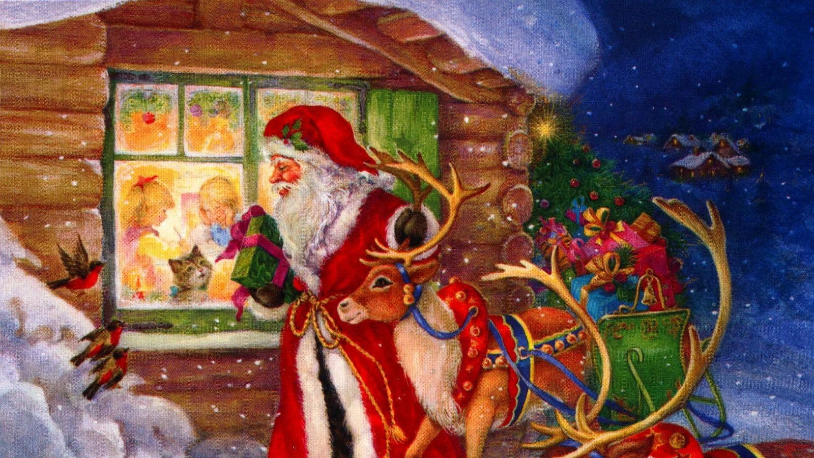 100 к 1 - Что делает дед мороз, после того как разнесёт подарки? 55