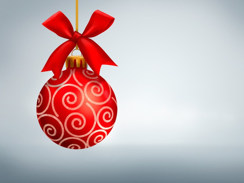 Simple Red Christmas Ornament