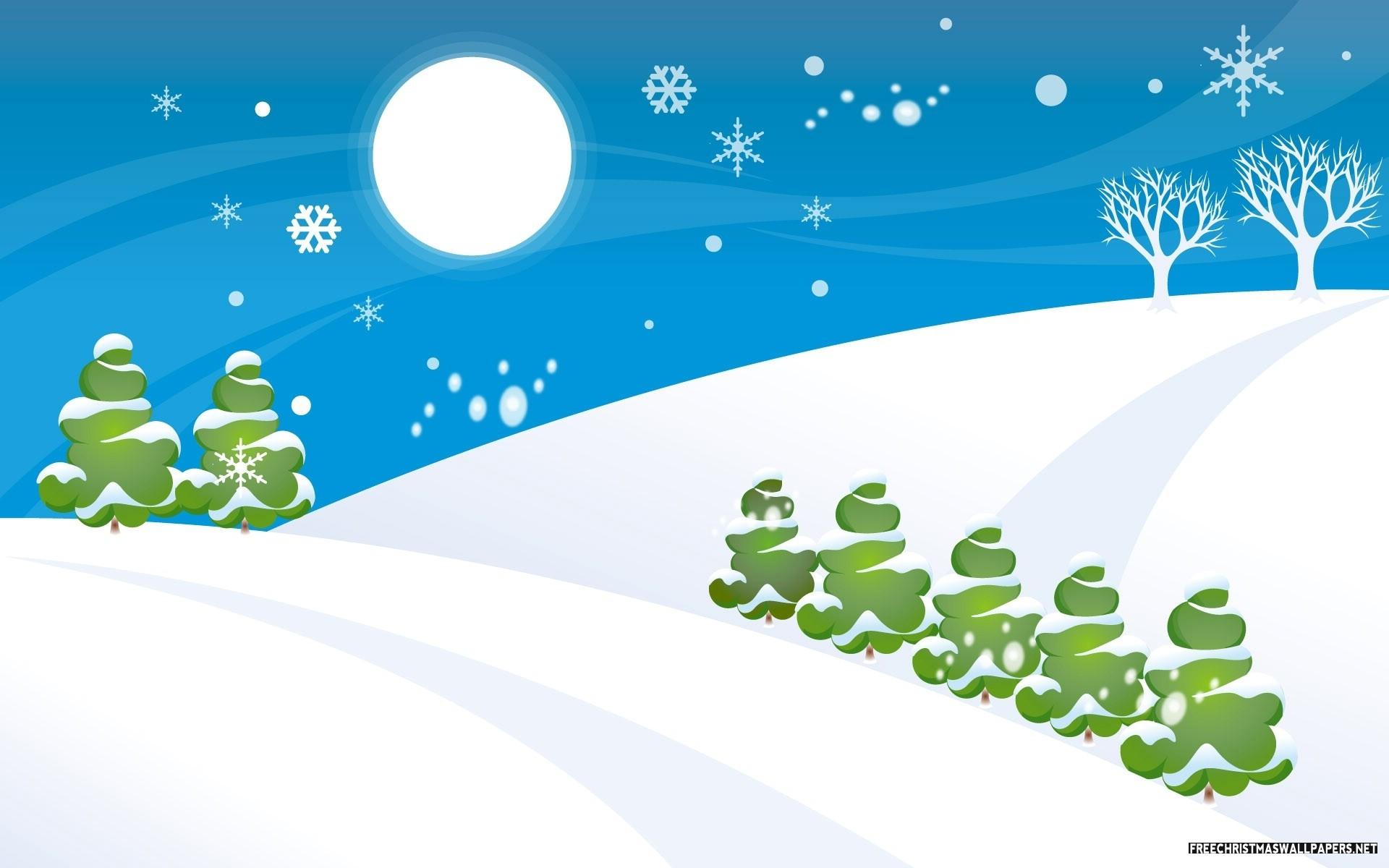 snowy christmas hills 1920x1200 - wallpaper