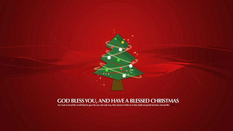 Blessed Christmas Tree Red