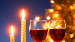 Christmas Candles And Wine