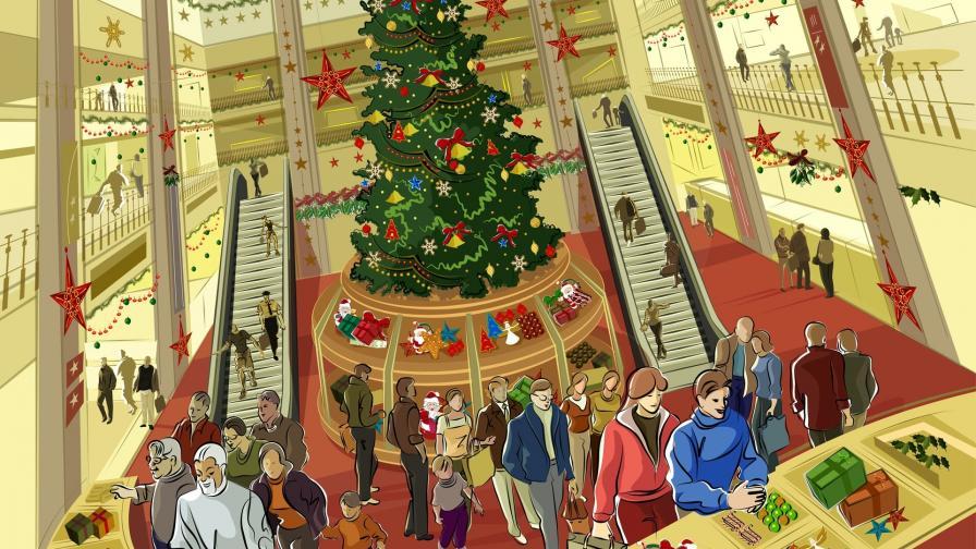 Christmas Shopping Mall Wallpaper Freechristmaswallpapersnet