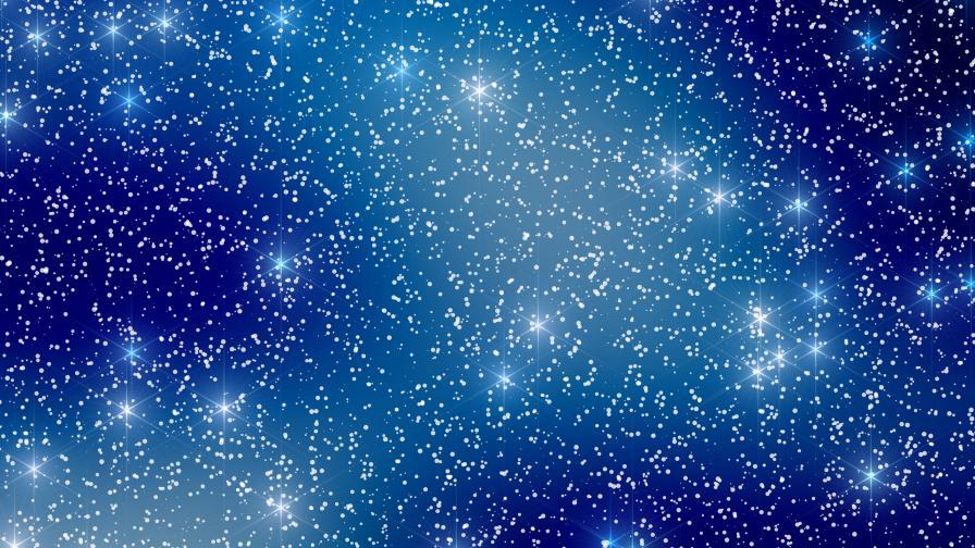 Christmas snow and stars wallpaper