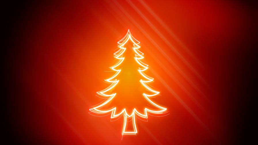 red christmas tree background - photo #17