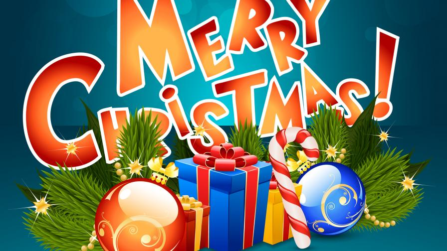 download merry christmas hd presents wallpaper
