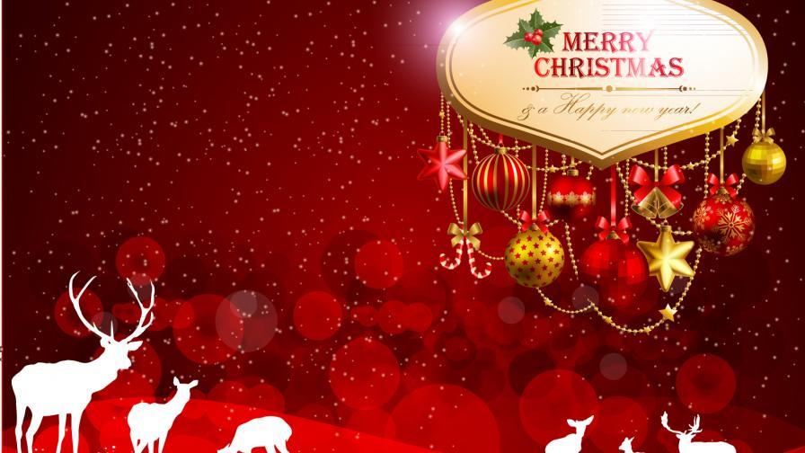 red christmas scene