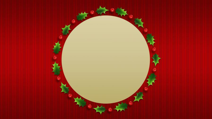 Rounded Christmas Wreath Background
