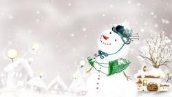 Snowman Christmas Painting