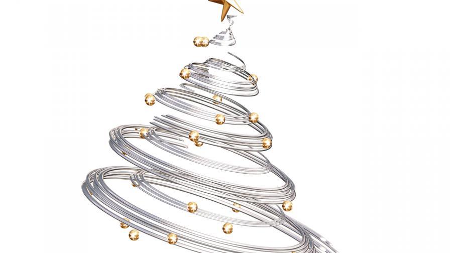 spiral christmas tree wallpaper