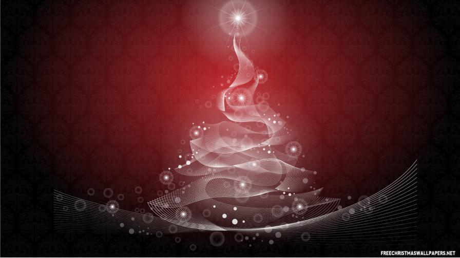 Spiritual Christmas Tree - Wallpaper - FreeChristmasWallpapers.net