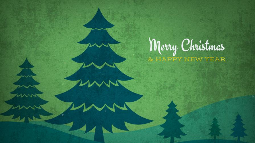 Vintage Christmas Trees Background - Wallpaper ...