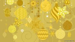 Yellowed Xmas Ornaments